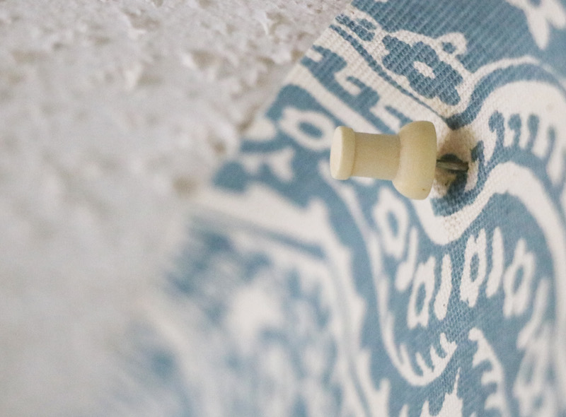 Using Tacks on Starched Fabric Wall