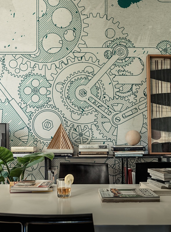 gears wall mural steampunk behangfabriek