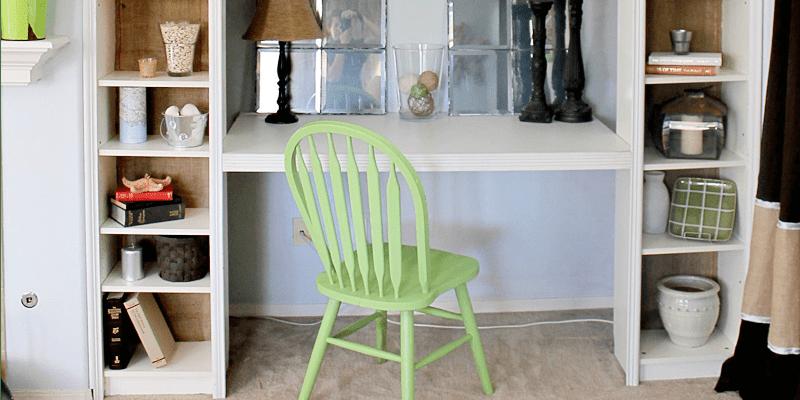 Sensational Remodelaholic Ikea Bookcase To Built In Desk Nook Hack Beutiful Home Inspiration Aditmahrainfo