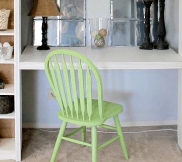 IKEA Bookcase to Built-In Desk Nook Hack