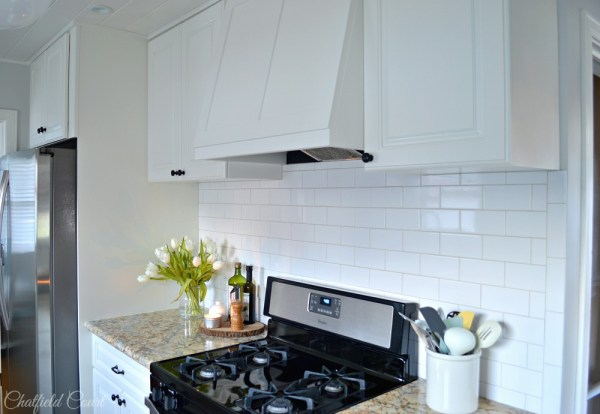Complete kitchen remodel, DIY tongue and groove plank ceiling, by Chatfield Court featured on @Remodelaholic