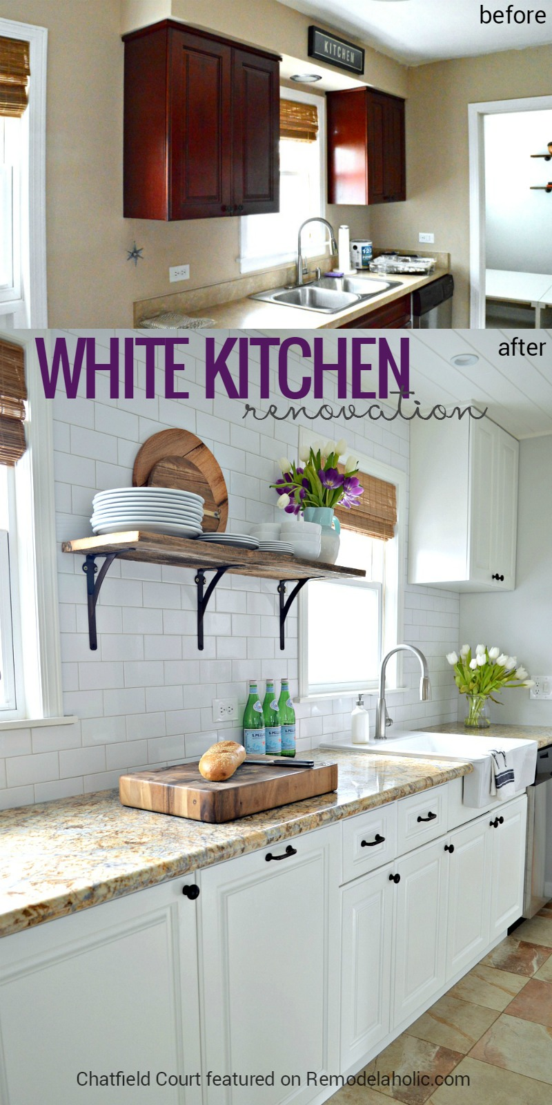 Remodelaholic | DIY Plank Ceiling in a Beautiful White Kitchen ...