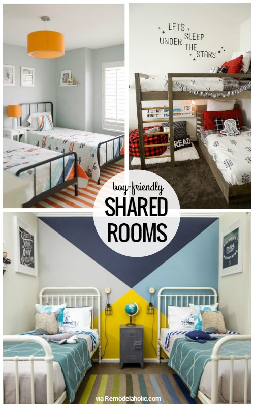 Boy-Friendly Shared Rooms via Remodelaholic