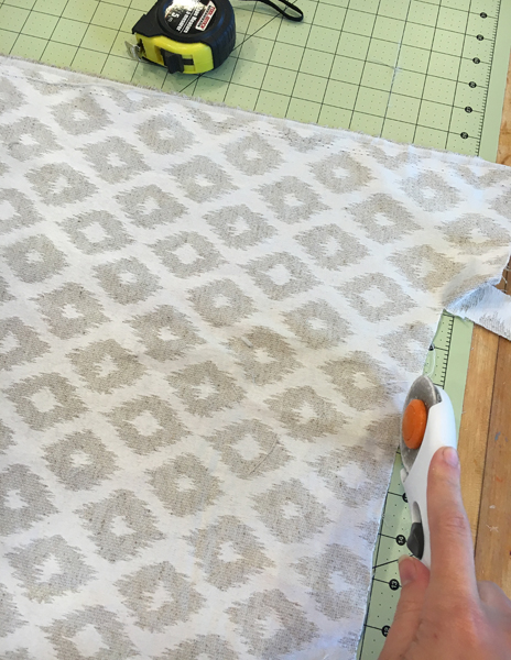 Cutting fabric for Ottoman