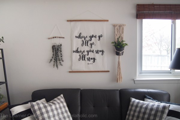 DIY Large Hand-painted calligraphy art. | The Learner Observer for Remodelaholic.com