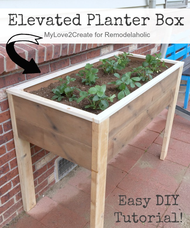 Remodelaholic Build An Elevated Planter Box And Save Your Back
