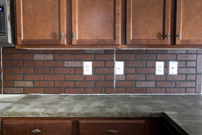 Whitewashed faux brick backsplash (11 of 18)
