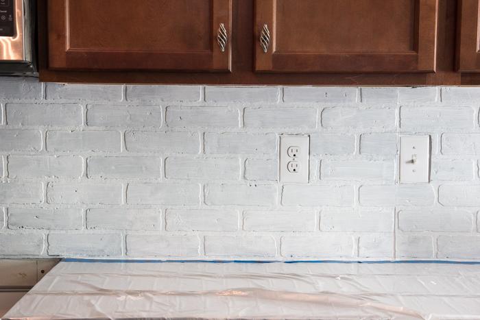 Whitewashed faux brick backsplash (13 of 18)