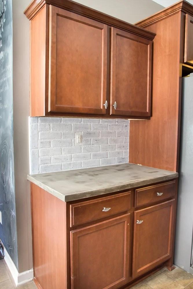 Whitewashed faux brick backsplash (16 of 18)