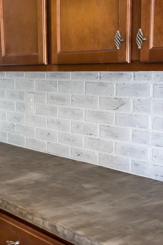 Whitewashed faux brick backsplash (17 of 18)