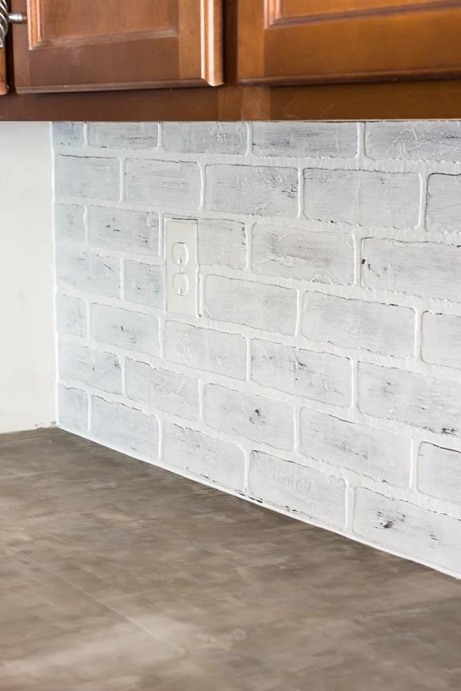 Whitewashed faux brick backsplash (18 of 18)