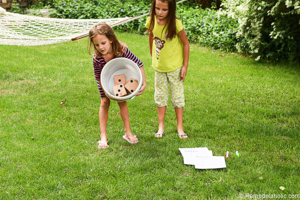 Summer family fun with a Yardzee yard dice game. Easy to make, and a great gift idea!