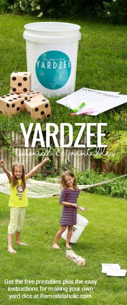 Yardzee is a fun easy summer yard game for the whole family @Remodelaholic