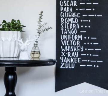 DIY Modern Alphabet Wall Art Pennant