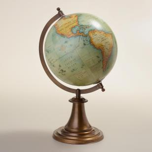 antique style globe WM