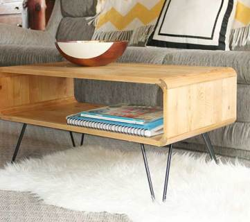 Thrifted Cubbies to Mid Century Modern Coffee Table