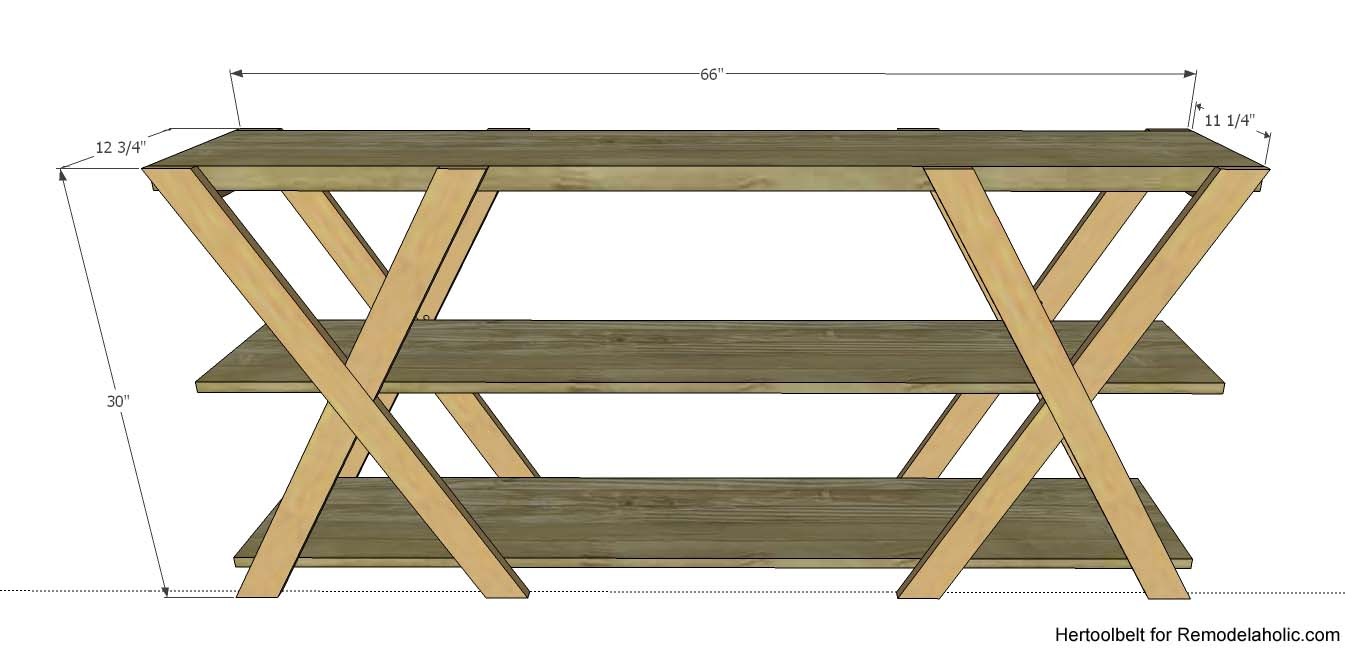 sofa table plans. An Easy Build, DIY Double X Console Table For Your Entryway. Build Less Sofa Plans .