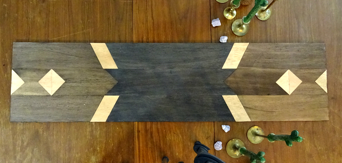 non fabric table runner, table display anchor