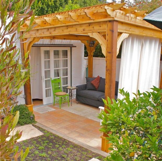 Pergola Makeover Inspiration   Found on architectureartdesigns.com