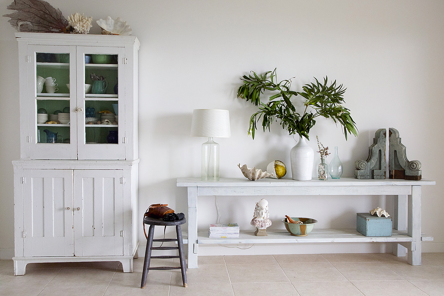 DIY Complete Tutorial For Creating A Beach Inspired No Nail Console Table  By Shabbyfufu