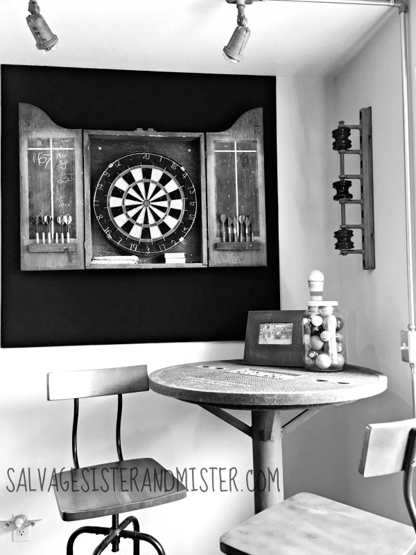 DIY upcycled industrial bar table by Salvage Sister and Mister featured on @Remodelaholic