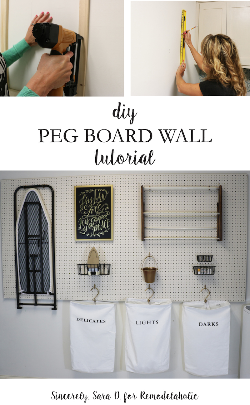 Hang Pegboard Along One Wall For Versatile And Inexpensive Laundry Room  Storage. This Tutorial Shows