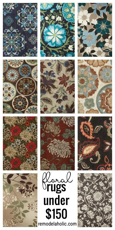 Floral Area Rugs under $150 via remodelaholic.com