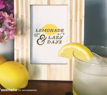 Lemonade & Lazy Days Print by AD Aesthetic for Remodelaholic