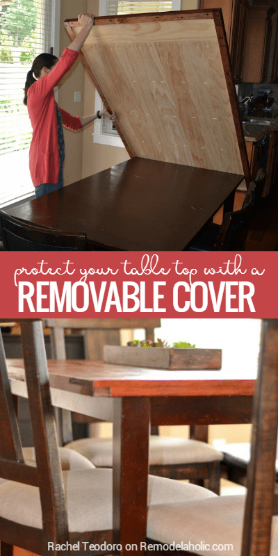 Beau Protect Your Dining Table Top With A Removable Tabletop Cover @Remodelaholic