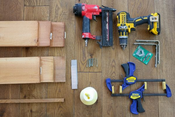 materials and tools to make a custom cedar wood window box planter