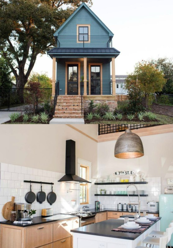 This tiny house is gorgeous and designed by my FAVORITE Fixer Upper couple, Chip and Joanna