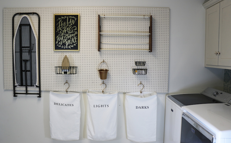 Remodelaholic How To Hang Pegboard For Perfect Laundry