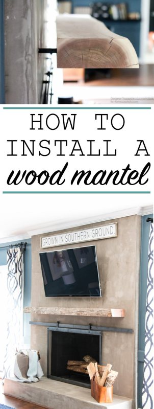 Remodelaholic How To Install A Wood Mantel On A Masonry