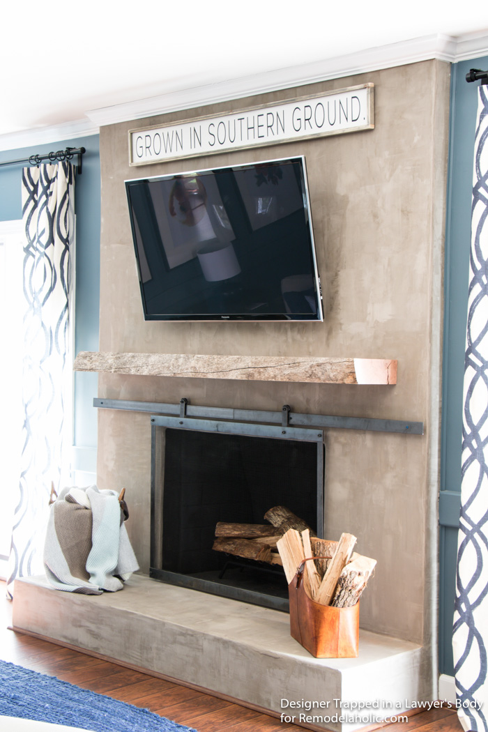 Learn How To Install A Wood Mantel (even If Itu0027s SUPER Heavy) With This