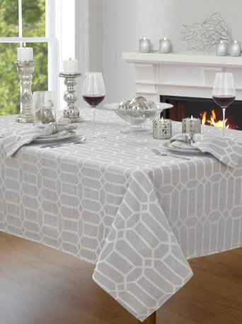 tablecloth geometric shimmer
