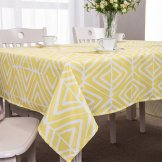 tablecloth yellow abstract geometric