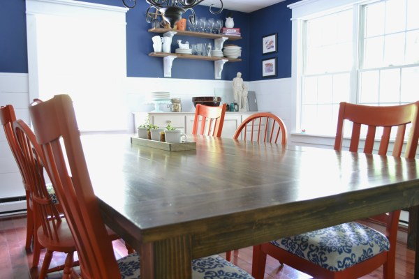 Build your own large farmhouse table, seating for 12! by I am a Homemaker featured on @Remodelaholic