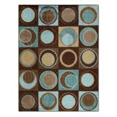 Circle Block Aqua Rug   //  buy it here