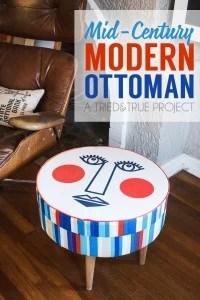 DIY modern ottoman by Tried and True via @Remodelaholic