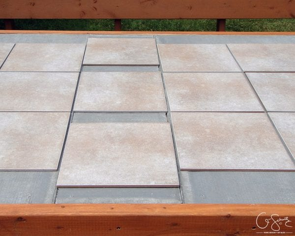 how to replace a patio table top with tile