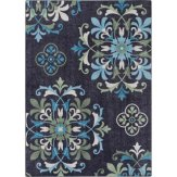 Alessia Blue Floral Rug  // buy it here