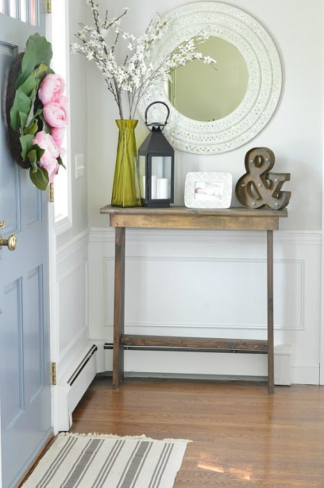 DIY entryway hall console table for $30, Wife In Progress