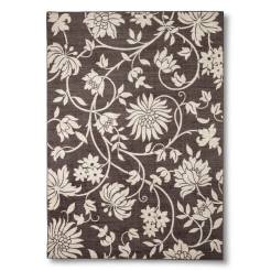 Brown Floral Area Rug// buy it here