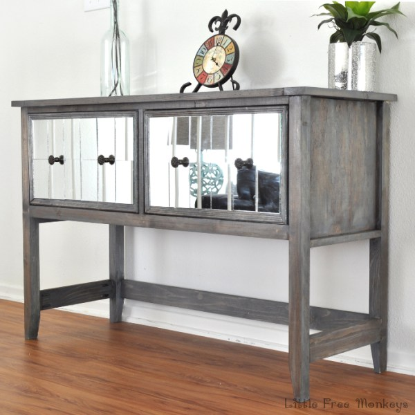 Mirrored-console-table little free monkeys