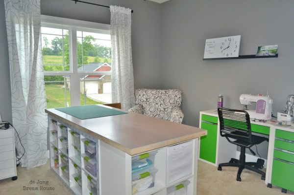 Organized Craft Table DeJong Dream House
