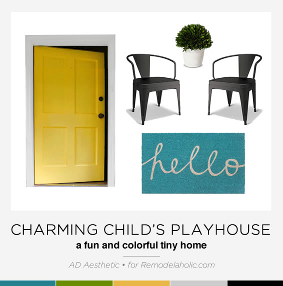 Tips and decor picks for a cute child's playhouse