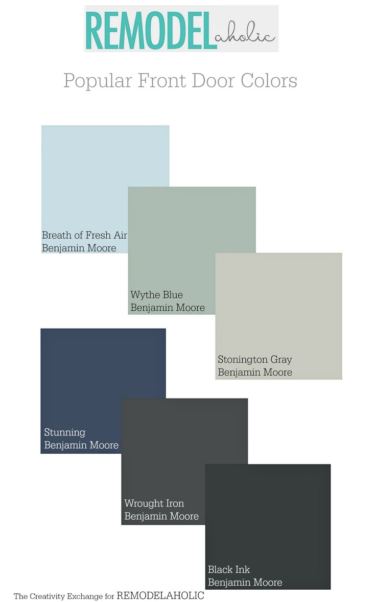 Popular front door paint colors. Remodelaholic