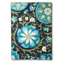 Stitched Floral Blue Runner// buy it here