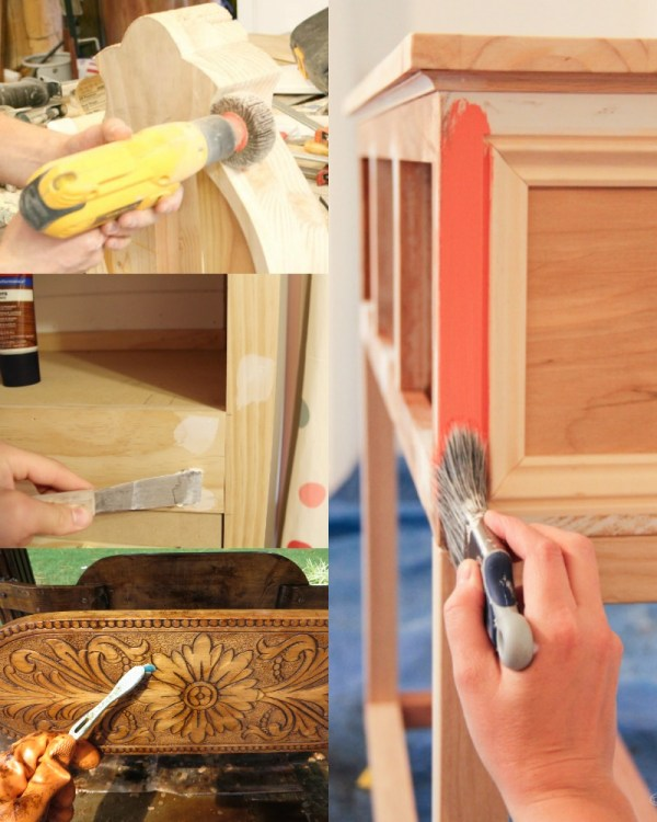 Tips for sanding furniture to paint or refinish @Remodelaholic