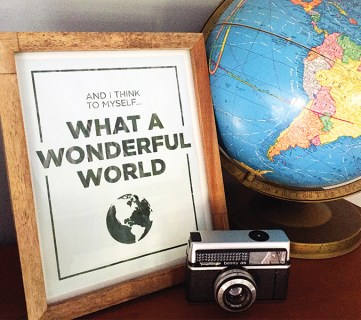 Free Printable: What A Wonderful World
